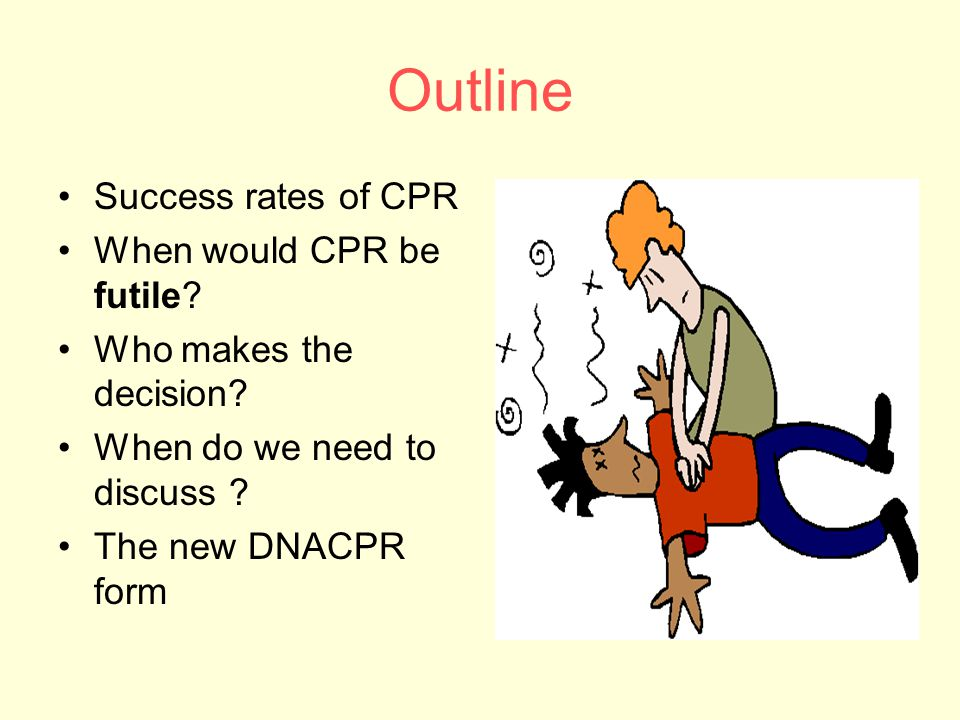Outline Success rates of CPR When would CPR be futile