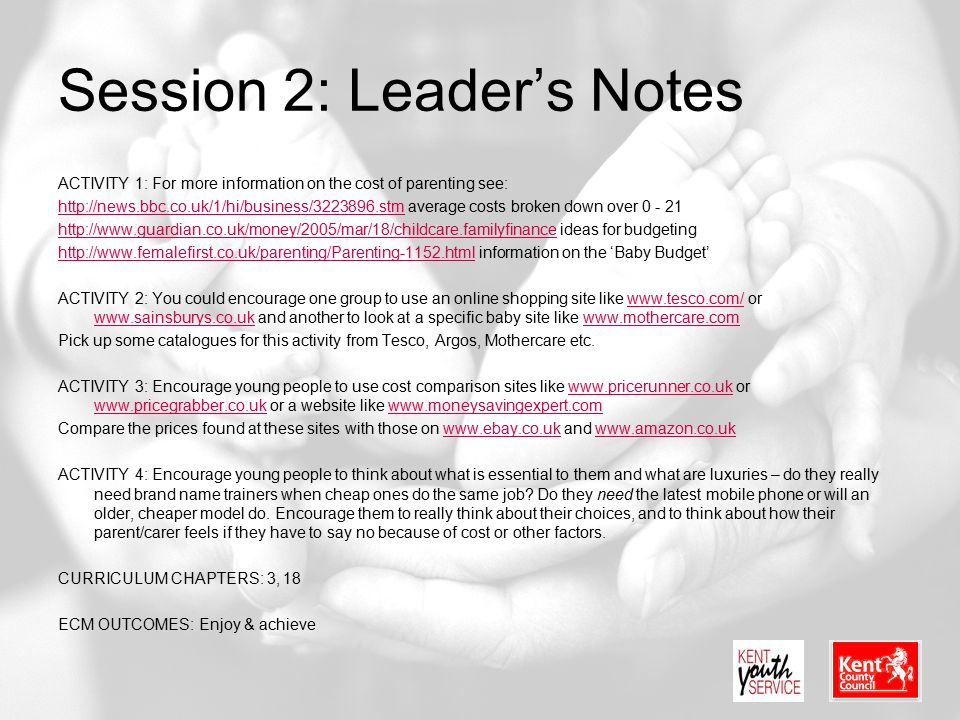 Session 2: Leader's Notes