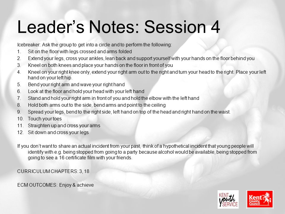 Leader's Notes: Session 4