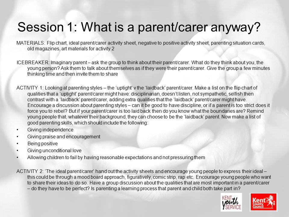 Session 1: What is a parent/carer anyway