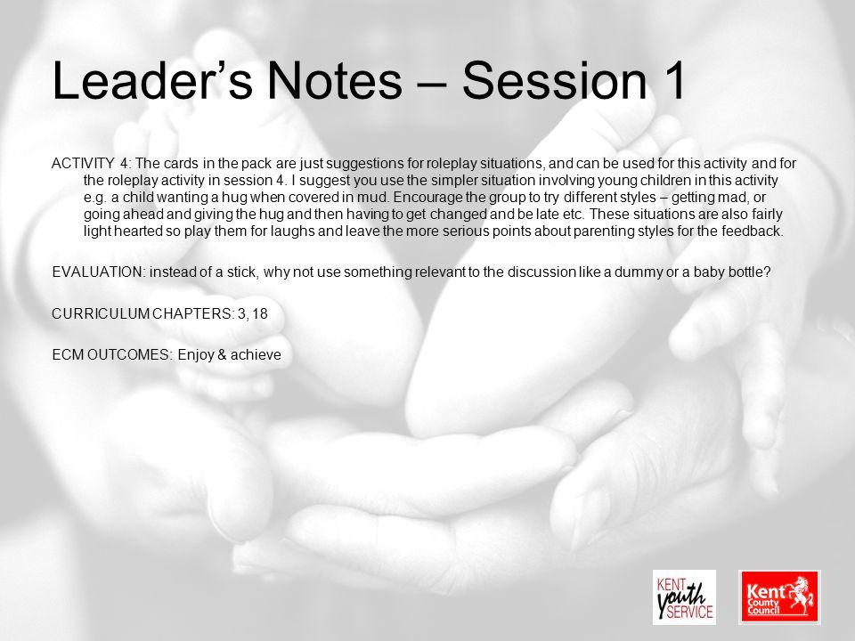 Leader's Notes – Session 1