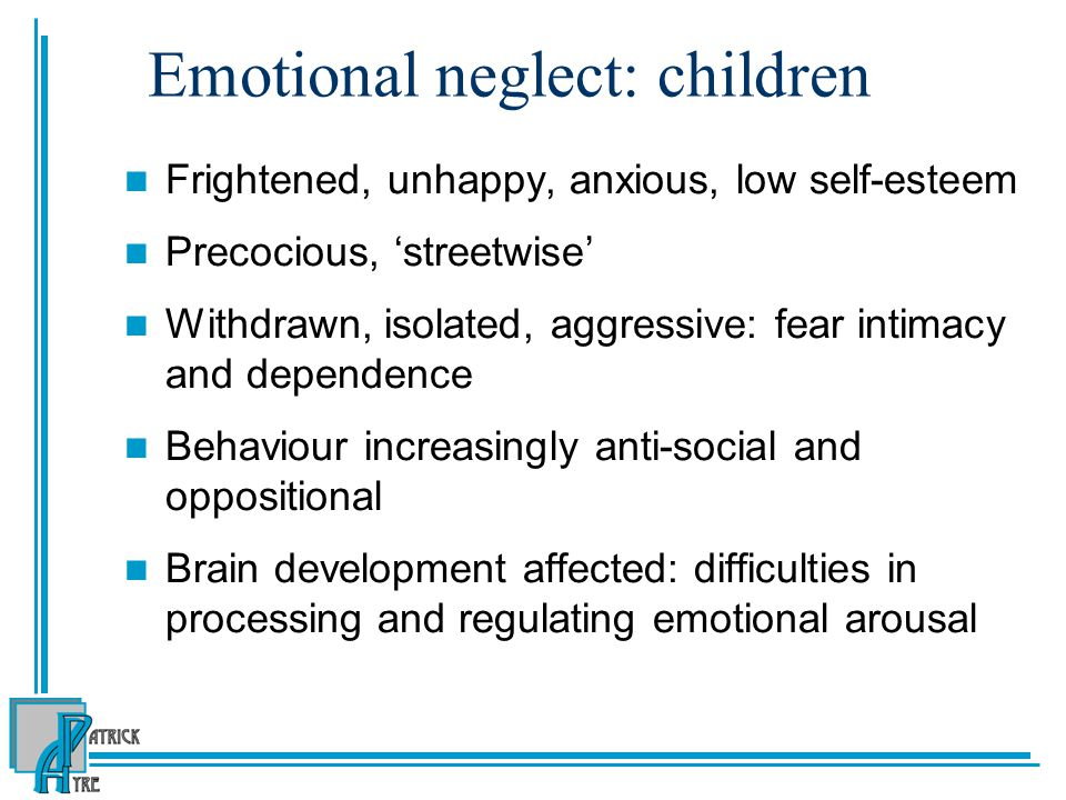 Emotional neglect: children
