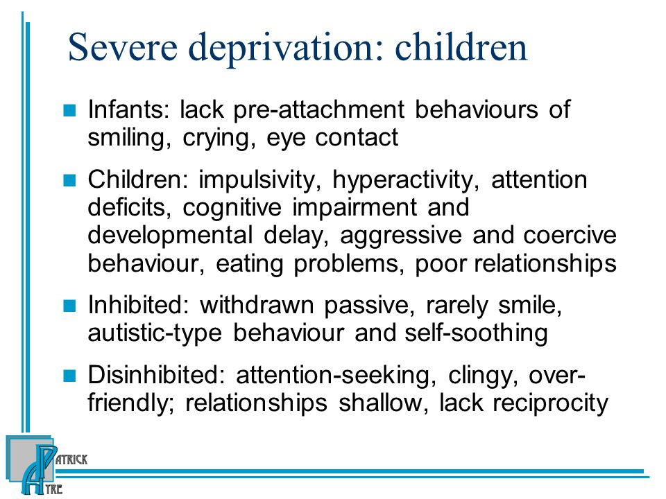 Severe deprivation: children