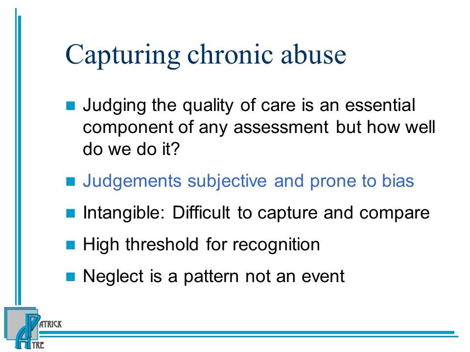 Capturing chronic abuse