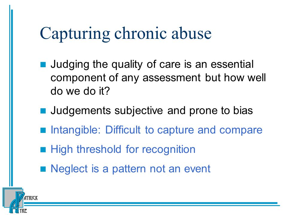 Capturing chronic abuse