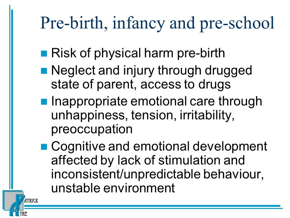 Pre-birth, infancy and pre-school