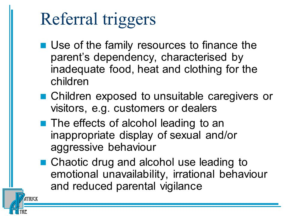 Referral triggers