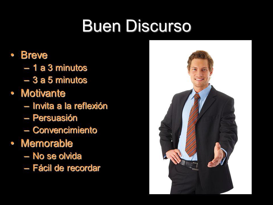 Buen Discurso Breve Motivante Memorable 1 a 3 minutos 3 a 5 minutos