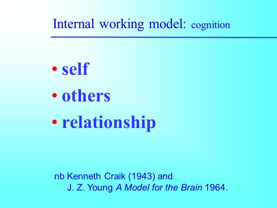 Internal working model: cognition