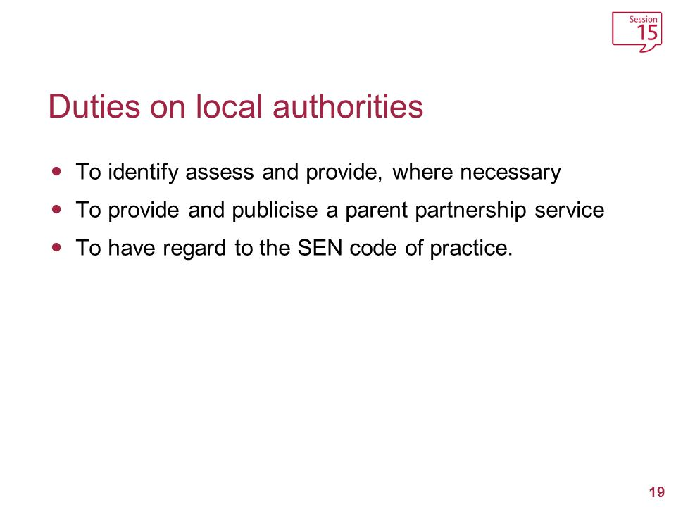 Duties on local authorities