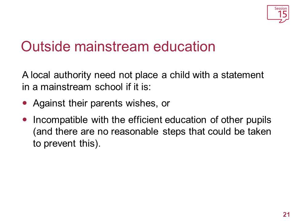 Outside mainstream education