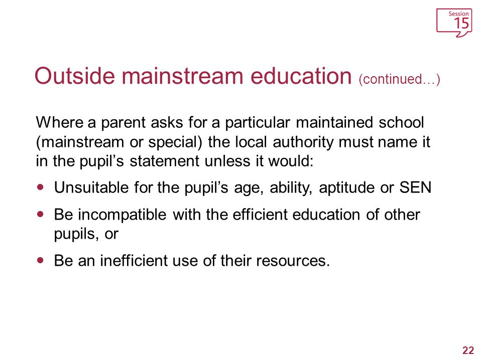 Outside mainstream education (continued…)