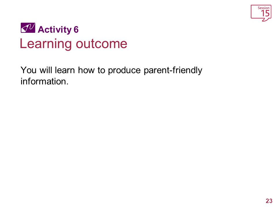 Learning outcome Activity 6