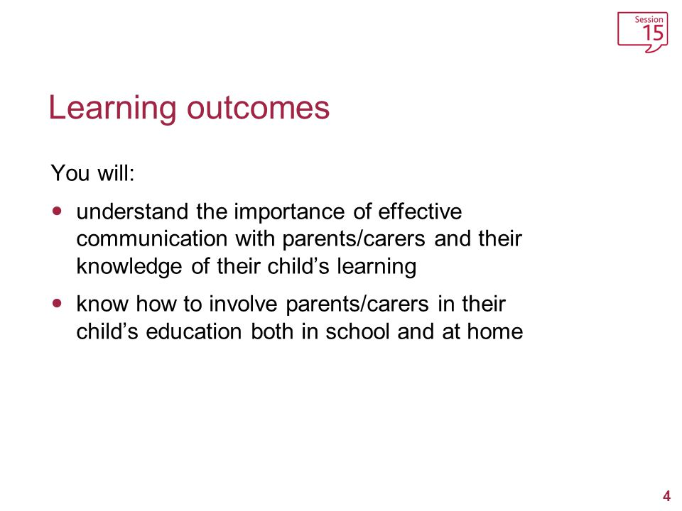 Learning outcomes You will: