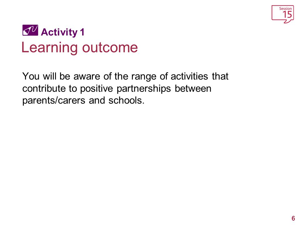 Learning outcome Activity 1