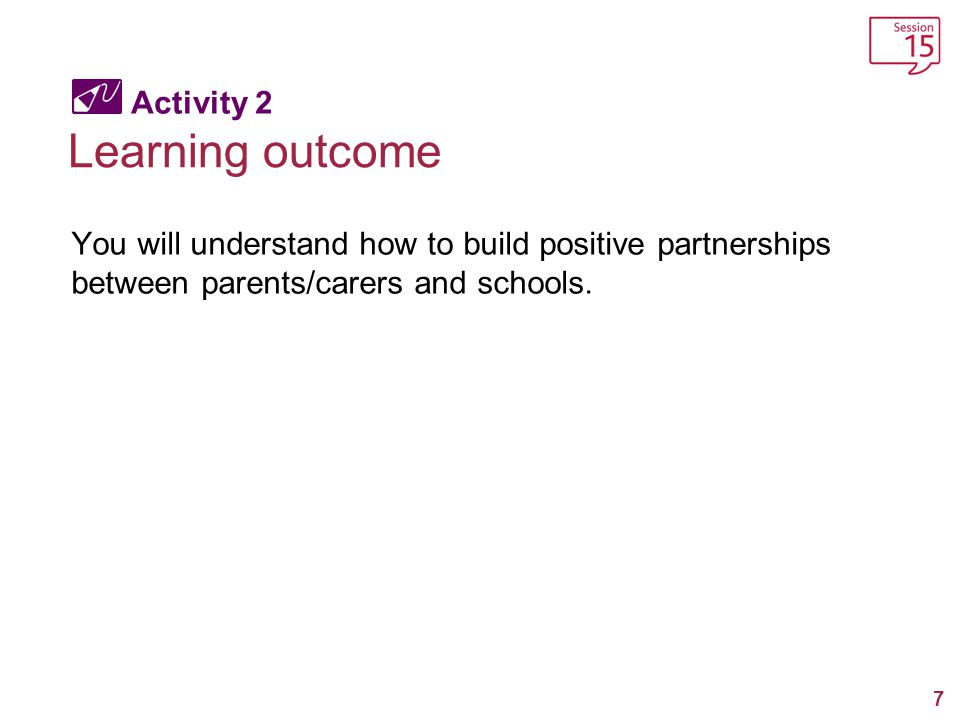 Learning outcome Activity 2