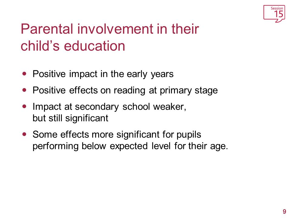 Parental involvement in their child's education