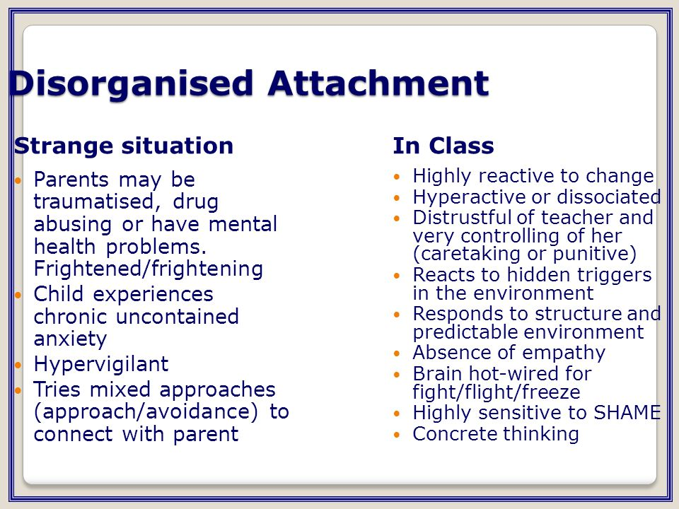 Disorganised Attachment