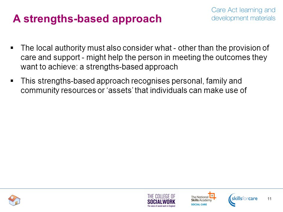 A strengths-based approach