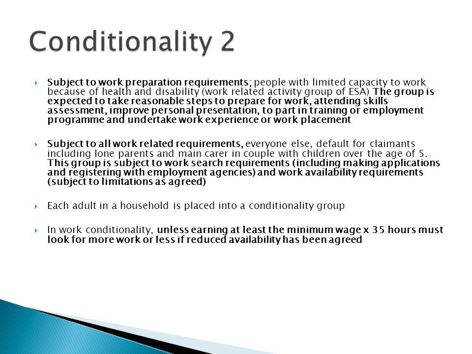 Conditionality 2