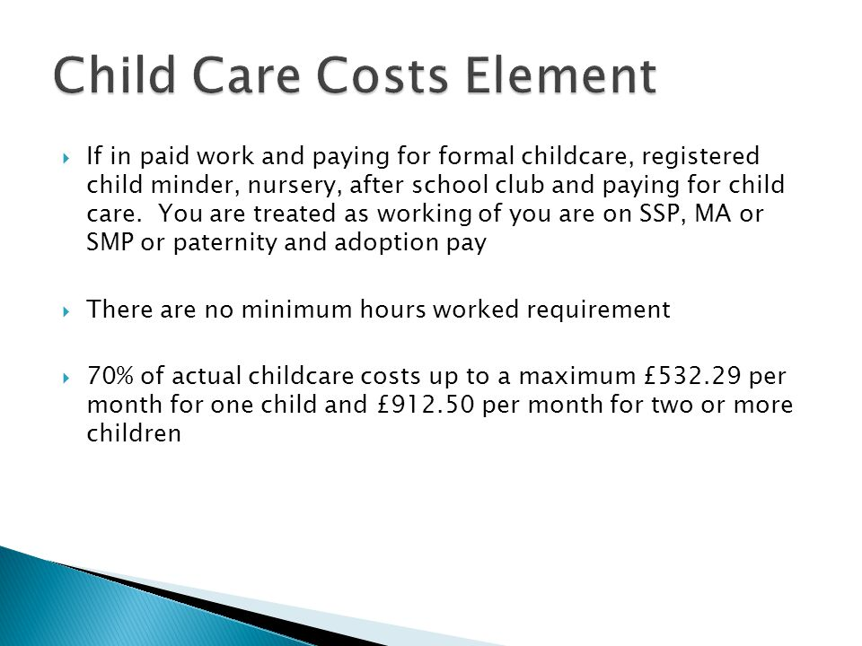 Child Care Costs Element
