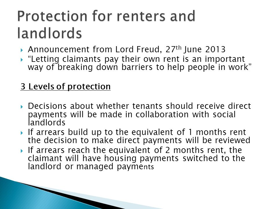 Protection for renters and landlords