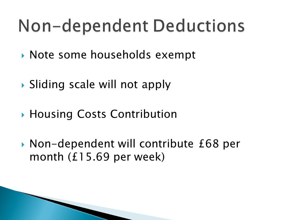 Non-dependent Deductions