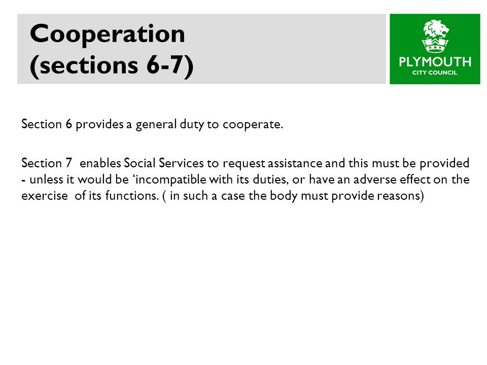 Cooperation (sections 6-7)