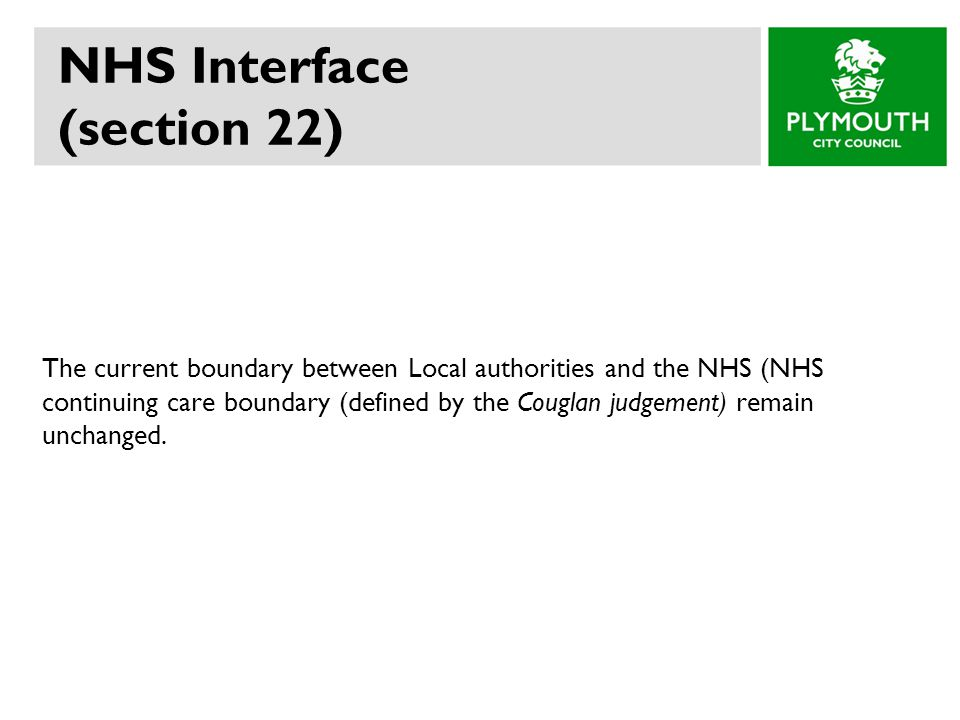 NHS Interface (section 22)