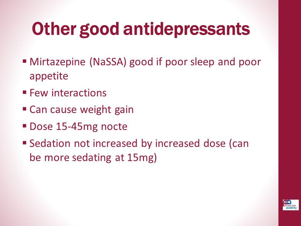 Other good antidepressants