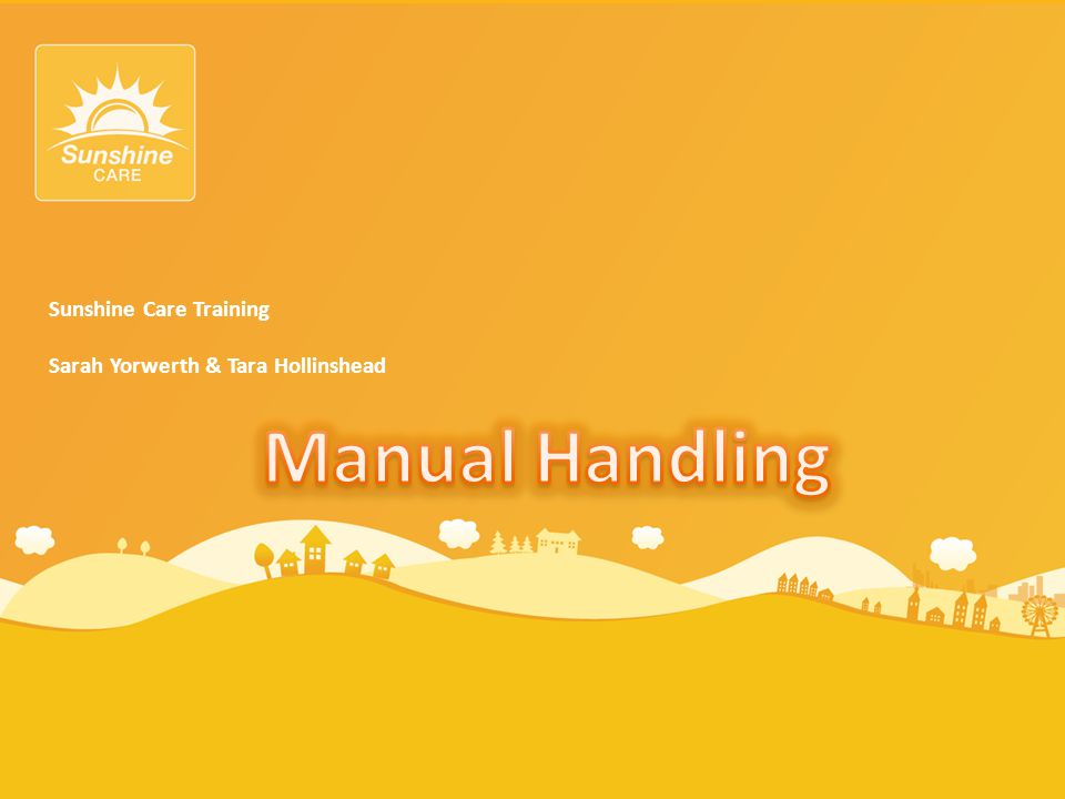 Manual Handling Sunshine Care Training