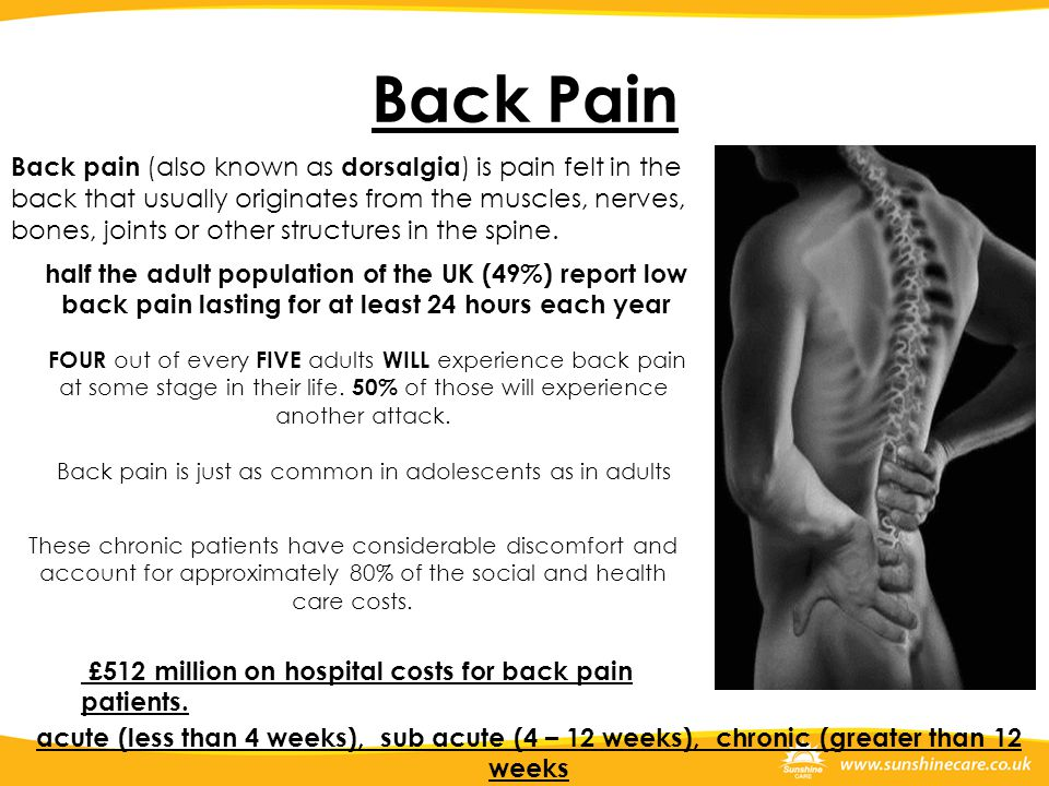 Back pain is just as common in adolescents as in adults