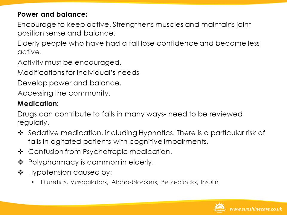 Activity must be encouraged. Modifications for individual's needs