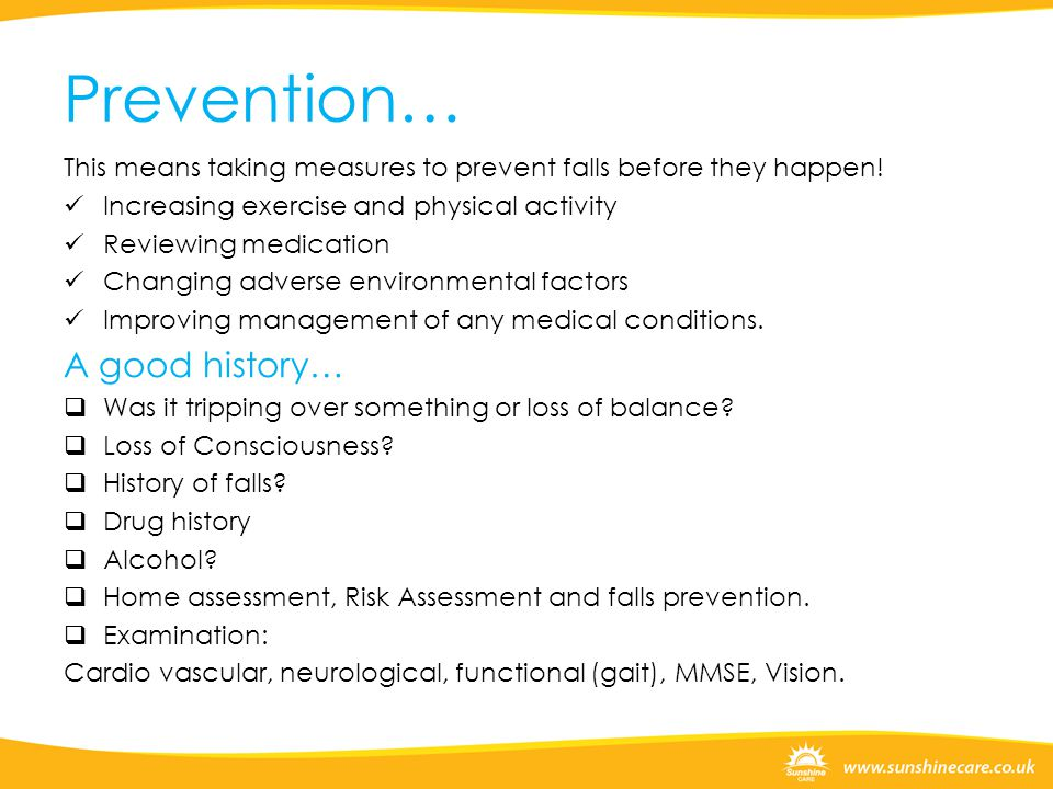 Prevention… A good history…