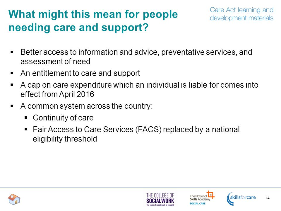 What might this mean for people needing care and support