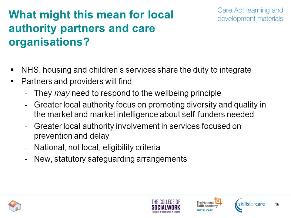 What might this mean for local authority partners and care organisations