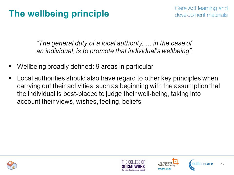 The wellbeing principle