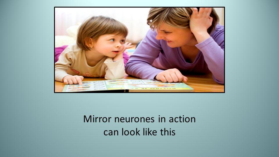 Mirror neurones in action