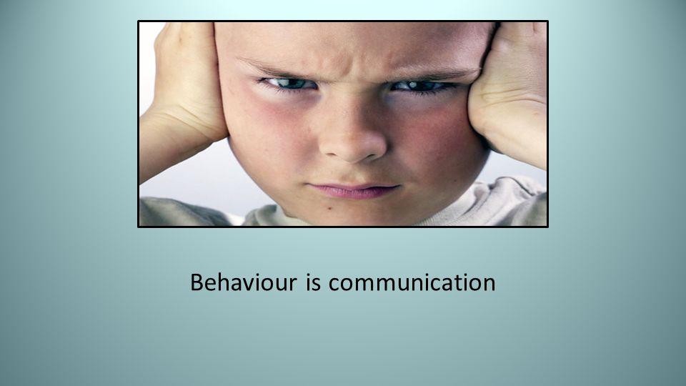 Behaviour is communication