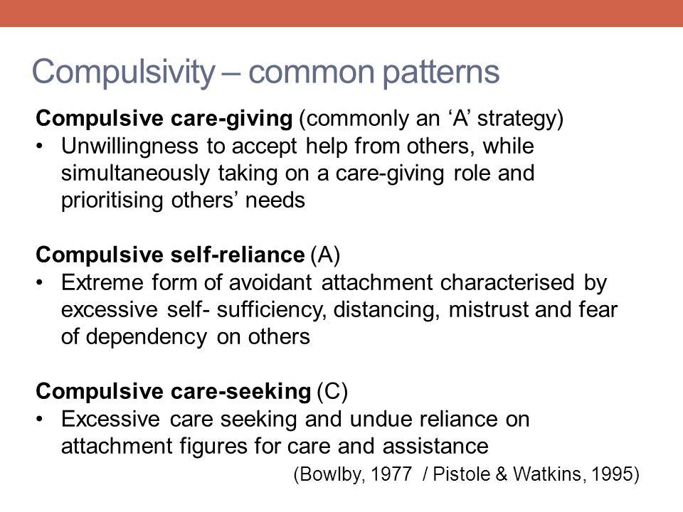 Compulsivity – common patterns