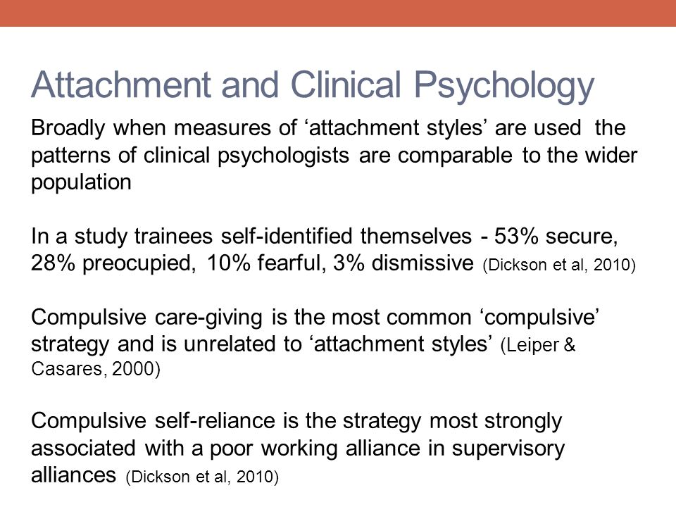 Attachment and Clinical Psychology