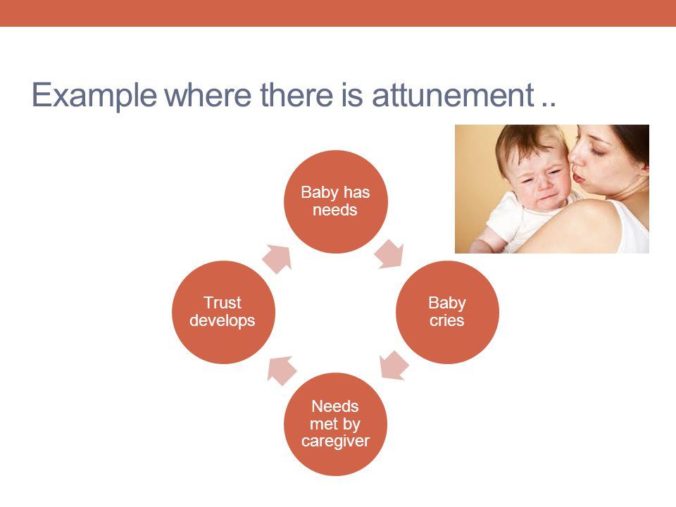 Example where there is attunement ..
