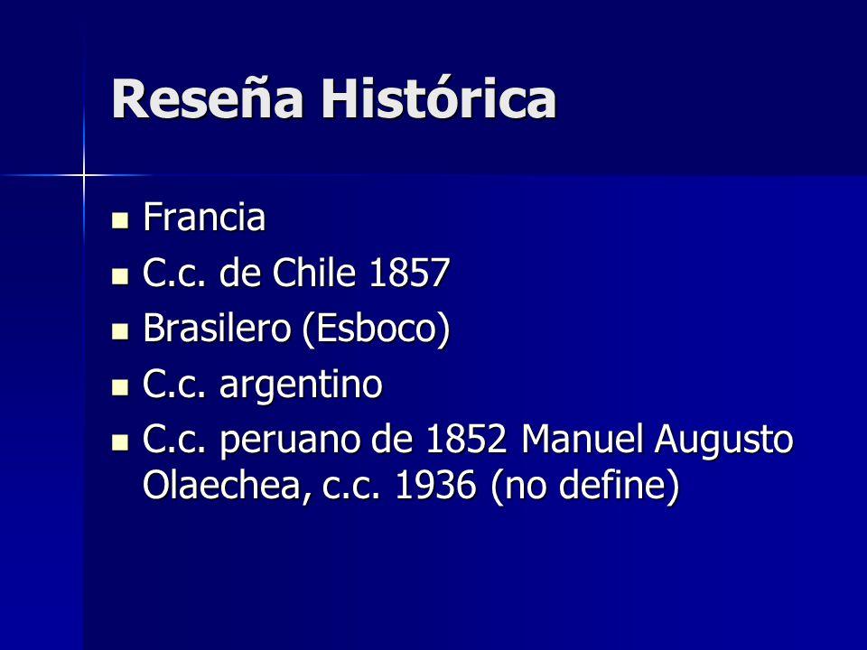 Reseña Histórica Francia C.c. de Chile 1857 Brasilero (Esboco)
