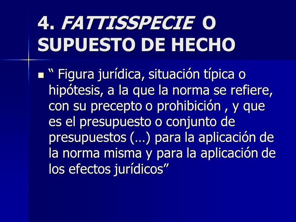4. FATTISSPECIE O SUPUESTO DE HECHO