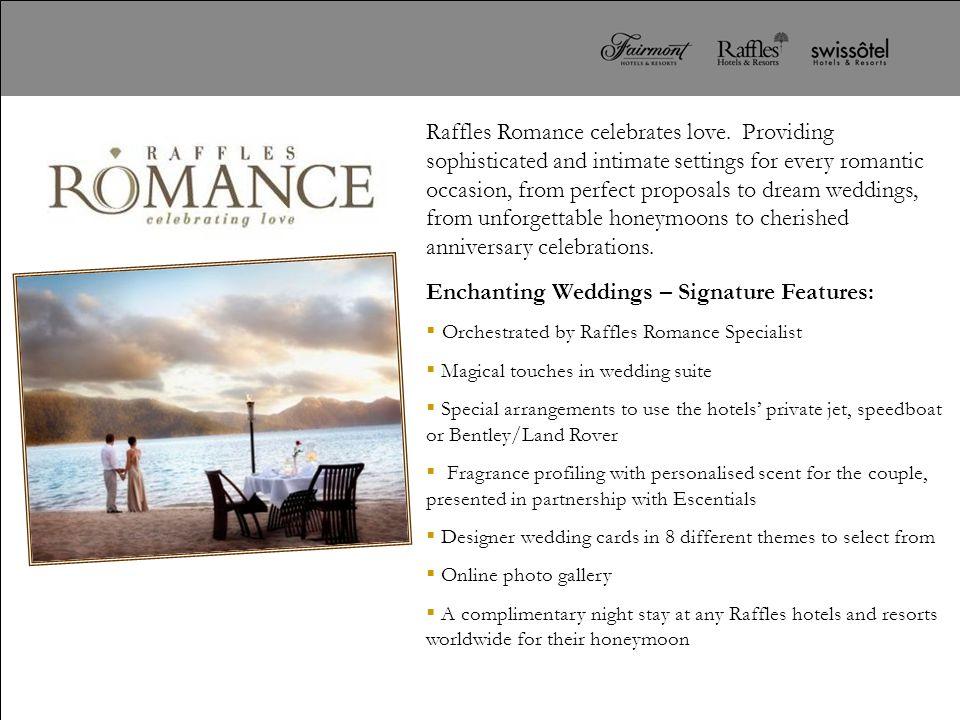 Enchanting Weddings – Signature Features: