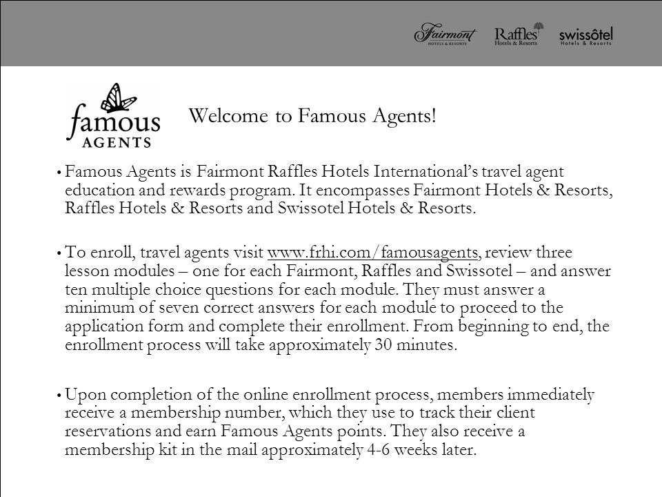 Welcome to Famous Agents!