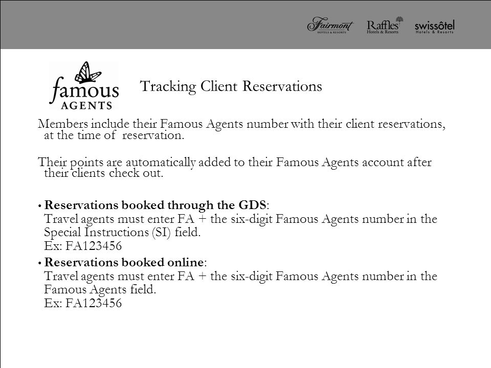 Tracking Client Reservations