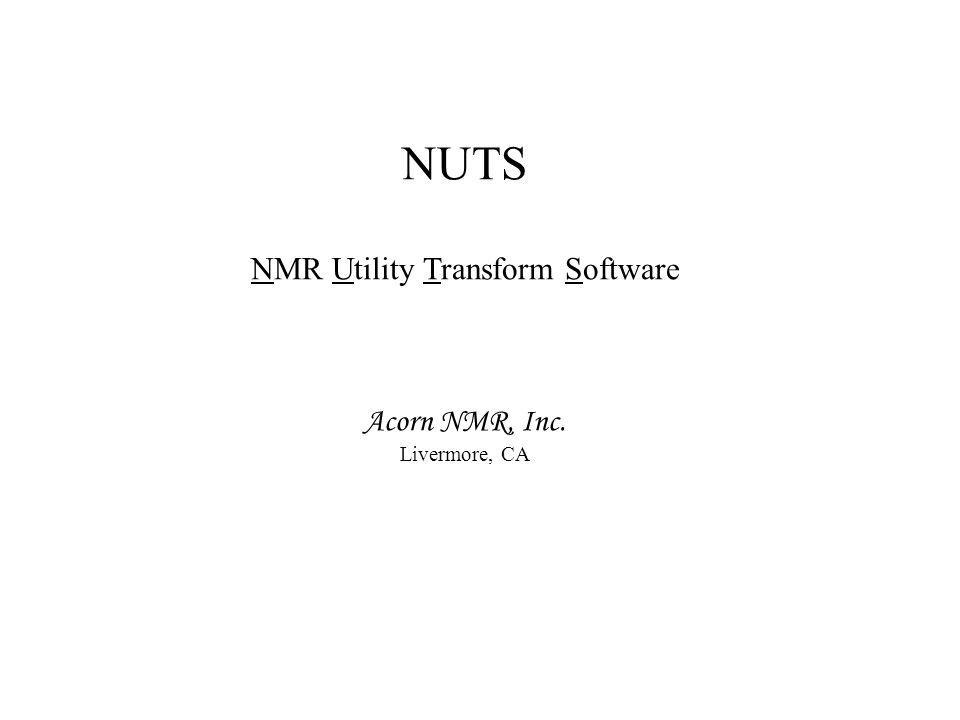 NMR Utility Transform Software