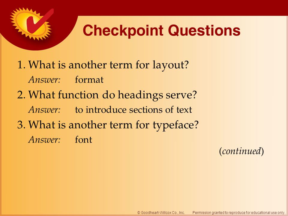 1. What is another term for layout