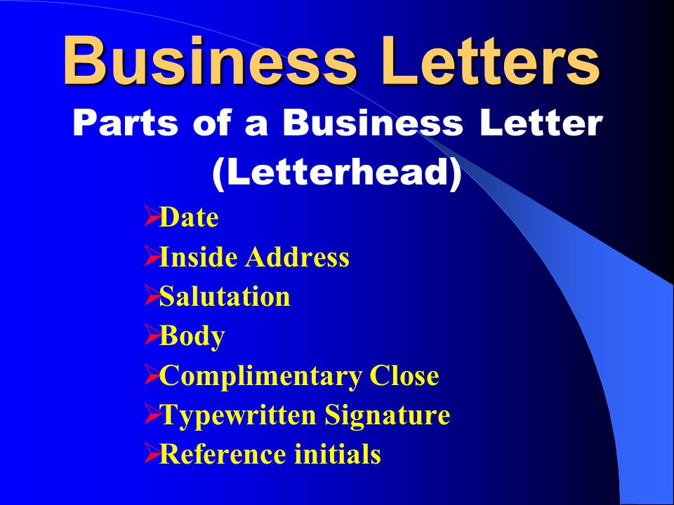 Parts of a Business Letter